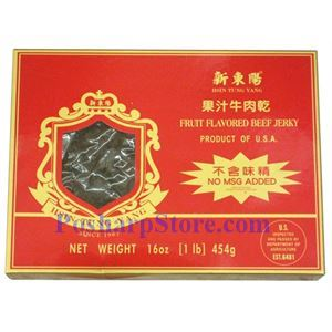 Picture of Hsin Tung Yang Fruit Flavored Beef Jerky 12 Oz
