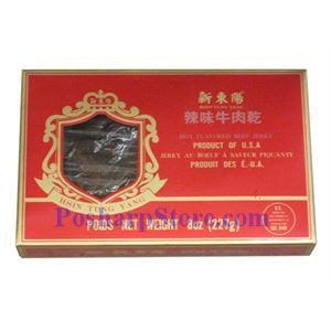 Picture of Hsin Tung Yang Hot Five Flavored Beef Jerky 6 Oz