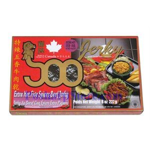 Picture of Soo Extra Hot Five Spices Beef Jerky 6 oz