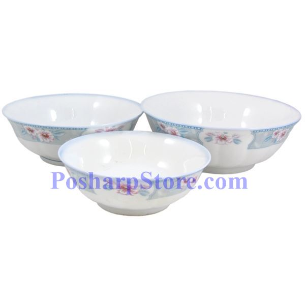 分类图片 满园春色8吋波面反口瓷碗