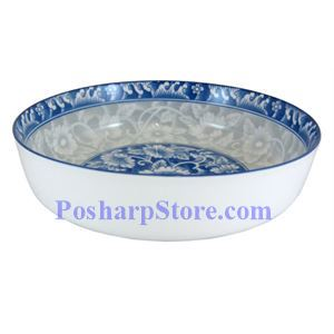 Picture of Cheng's 8-Inch Rake Wave Peony Deep Bottom Soup Plate