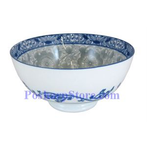 Picture of Cheng's White Jade Porcelain 5-Inch Rake Wave Peony Rice Bowl