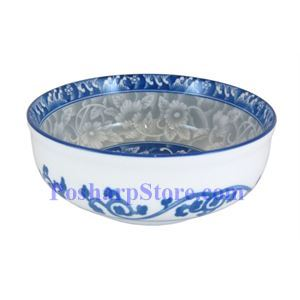 Picture of Cheng's Porcelain 5.75-Inch Rake Wave Peony Wide Bottom Soup Bowl