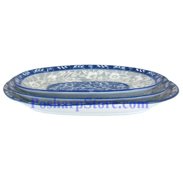 Picture for category Cheng's Porcelain 9.5-Inch Rake Wave Peony Japanese Rectangle Plate