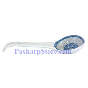 Picture of Cheng's White Jade Porcelain Rake Wave Peony Rice/Soup Spoon