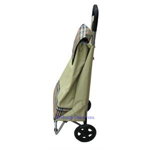 Picture of Canvas Folding Shopping Cart with Mung Bean Color
