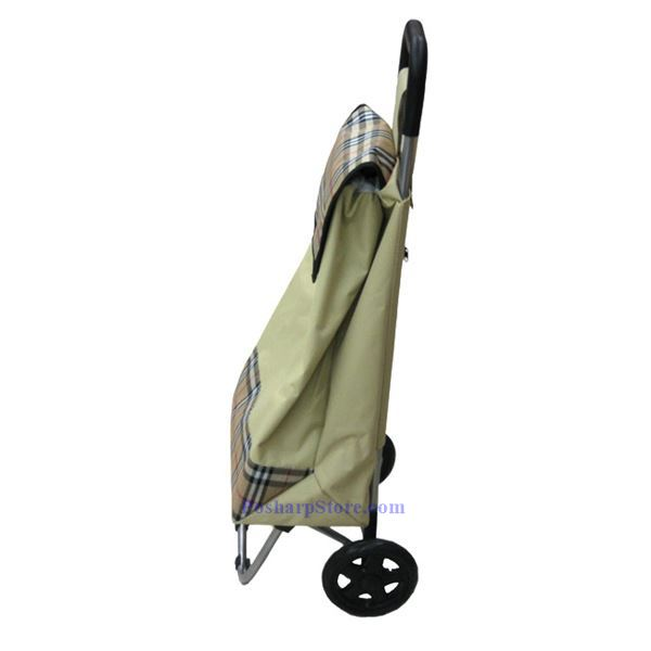 Picture for category Canvas Folding Shopping Cart with Blue Color