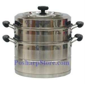 Picture of Laotesi 12-Inch Two Tier Stainless Steel American Style Stock Pot