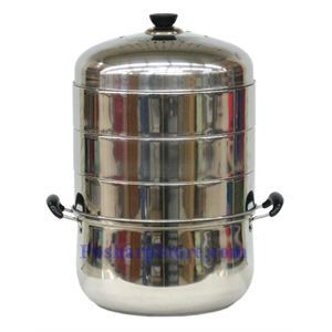 Picture of Jiateng 12 Inch Four Tier Energy Saving Stainless Steel Steam Cooker