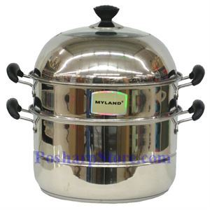 Picture of Myland 10 Inch Two Tier Heavy Duty Stainless Steel Steamer