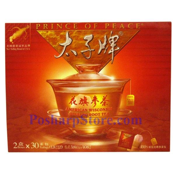 Picture for category Prince of Peace® American Wisconsin Ginseng Root Tea 60 Teabags