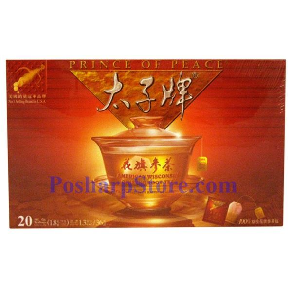 Picture for category Prince of Peace® American Wisconsin Ginseng Root Tea 20 Teabags