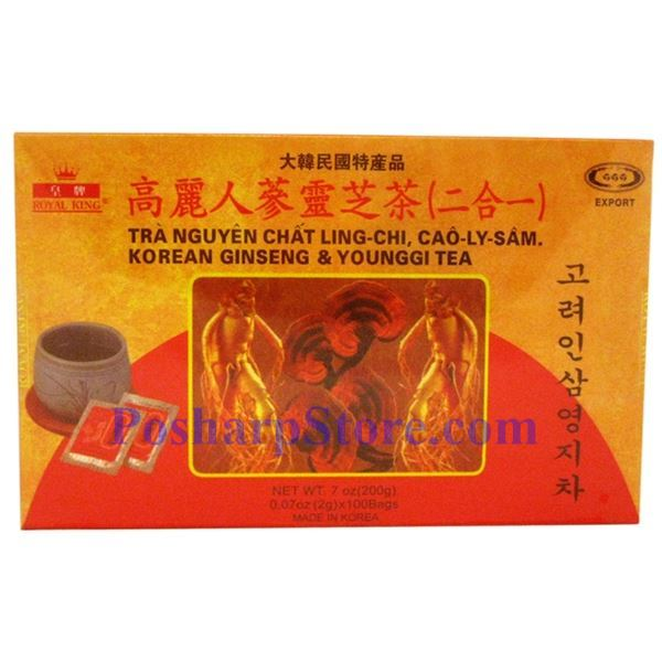 Picture for category Royal King 2-in-1 Korean Ginseng and Ganoderma (Younggi) Tea 7 oz