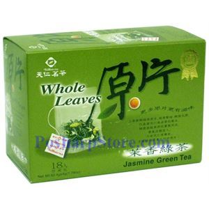 Picture of Tenren Jasmine Green Tea Whole leaves Tea With 18 bags