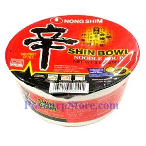 Picture of Nong Shim Shin Spicy Instant Mushroom Noodle in Bowl