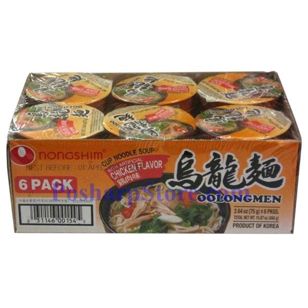Picture for category Nong Shim OolongMen Cup Noodle Soup with Artificial Chicken Flavor