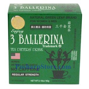 Picture of 3 Ballerina Tea Dieter's Drink Regular Strength 30 Teabags