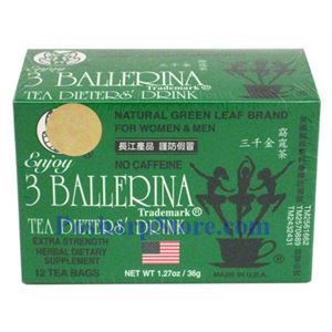 Picture of 3 Ballerina Tea Dieter's Drink  Extra Strength 12 Tea Bags