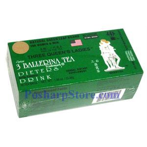 Picture of 3 Ballerina Tea Dieter's Drink Three Queens Extra Strength 18 Teabags