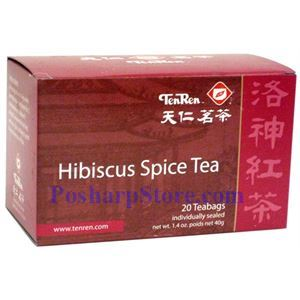 Picture of Tenren  Hibisucs Spice Tea With 20 bags