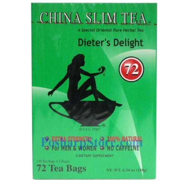 Picture for category Tea Pot Brand China Slim Tea  Dieter Delight Extra Strength 72 Teabags