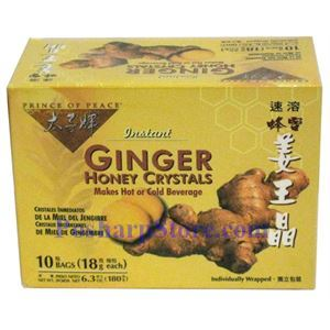 Picture of Prince Of Peace Instant Ginger Honey Crystals 6.3 Oz, 10 Teabags