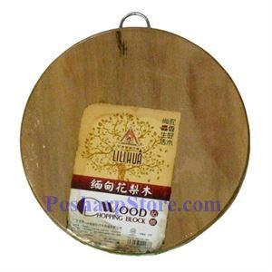 图片 缅甸34CM花梨木双面园砧板