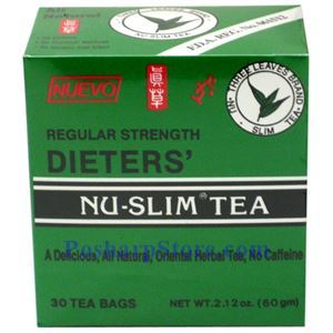 Picture of Three Leaves Brand Dieters' Nu-Slim Tea Regular Strength 30 Teabags