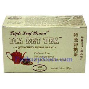 Picture of Triple Leaf Brand Diabet Tea  20 Teabags