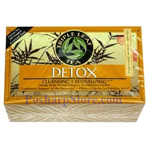 Picture of Triple Leaf  Detox Cleansing & Revitalizing Herbal Tea 20 Teabags