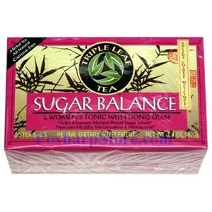 Picture of Triple Leaf  Women's Sugar Balance Herbal Tea 20 Teabags