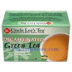 Picture of Uncle Lee's Tea Decaffeinated Green Tea 20 Teabags
