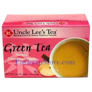 Picture of Uncle Lee's  Green Tea with Cinnamon Apple Flavor 20 Teabags