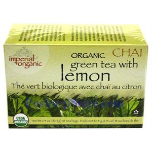Picture of Imperial Organic Green Tea with Lemon Chai Tea 20 Teabags