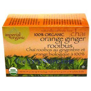 Picture of Imperial Organic 100% Organic Orange Ginger Rooibus Chai Tea