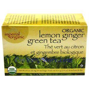 图片 有机帝国有机柠檬生姜绿茶 20茶袋装
