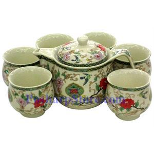 Picture of Ceramic Peony Teapot Set