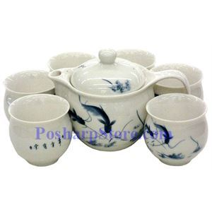 Picture of Ceramic White Teapot Set