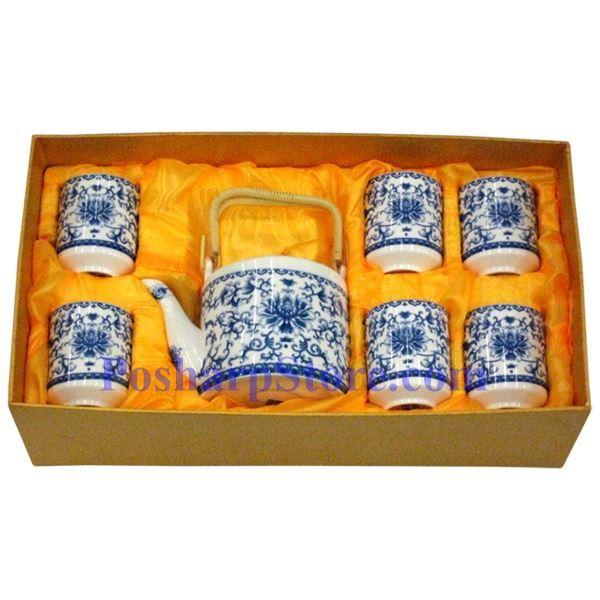 分类图片 青花陶瓷茶壶茶杯套装