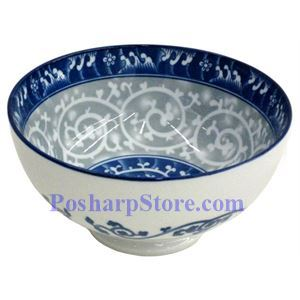Picture of Porcelain 5-Inch Filigree Swirl Rice Bowl