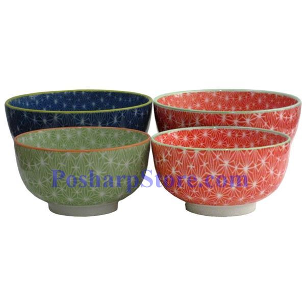 Picture for category  Japanese 6-Inch Red Diamond Porcelain Rice Bowl