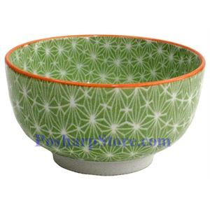 Picture of Japanese 5-Inch Green Diamond Porcelain Rice Bowl