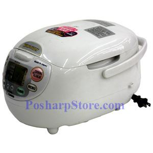 Picture of Zojirushi NS-ZCC10 5.5-Cup Neuro Fuzzy® Rice Cooker, Premium White