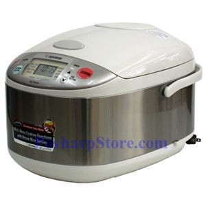 Picture of Zojirushi NS-TGC18 10-Cup Micom Rice Cooker, Stainless Steel