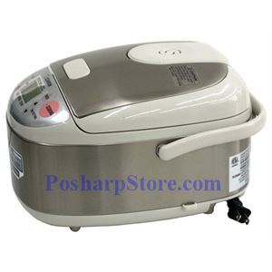 Picture of Zojirushi NS-LAC05 3-Cup Micom Rice Cooker, Stainless Steel
