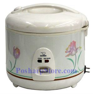 Picture of Zojirushi NS-RNC18 10-Cup Automatic Rice Cooker, White Ballerina