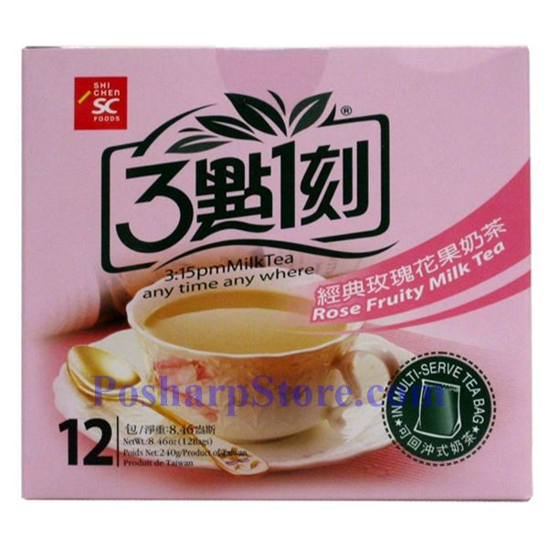 Picture for category 3:15PM Rose Fruity Milk Tea 10 Bags 7.06(OZ)