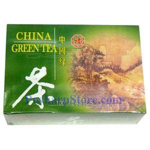 图片 八福牌中国绿茶 100茶袋装
