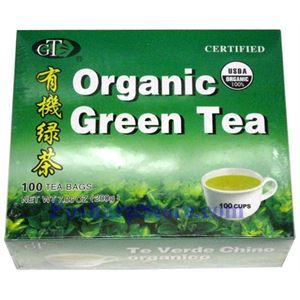 Picture of GT Certified Organic Green Tea 100 Teabags