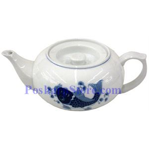 Picture of Porcelain 3-Inch Blue Fish Teapo ( Short )